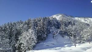 石打丸山スキー場山頂を望む